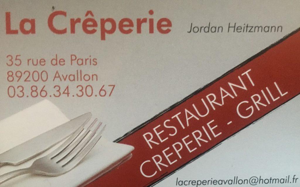 Restaurant Crêperie à Avallon